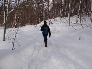 雪が積もる中、いざ五色沼散策へ